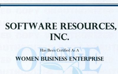 Software Resources recertified as a Women Owned Business by Orange County Business Development Division